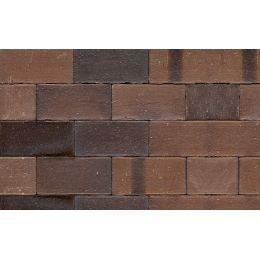 Тротуарная клинкерная брусчатка Muhr №33A Schwarz-braun, 240*55*52 мм