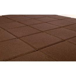 Плитка тротуарная BRAER Лувр коричневый, 200*200*60 мм