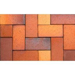 Тротуарная клинкерная брусчатка ABC Herbstlaub-geflammt, 200х100х52 мм