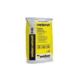 Универсальный цементный раствор weber.vetonit S 06, 25 кг
