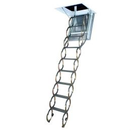 Металлическая огнестойкая чердачная лестница FAKRO LSF 60*90*300 см