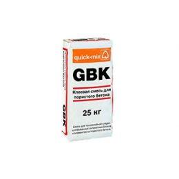 Клеевая смесь для пористого бетона quick-mix GBK, 25 кг