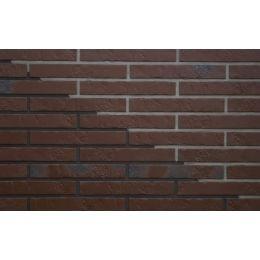 Клинкерная фасадная плитка ABC Alaska Braun kohlebrand Schieferstruktur, 365*52*10 мм