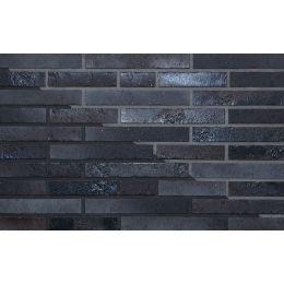 Клинкерная фасадная плитка ABC Atlantis kohlebrand Schieferstruktur, 490*52*10 мм