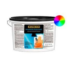 Краска MUREXIN для интерьеров супербелая, 17 кг