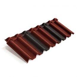 Композитная черепица METROTILE Gallo красно-черный, 1315*418 мм