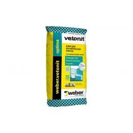 Плиточный цементный клей weber.vetonit optima, серый, 25 кг