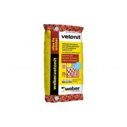 Цементный зимний клей усиленный weber.vetonit ultra fix winter, 25 кг
