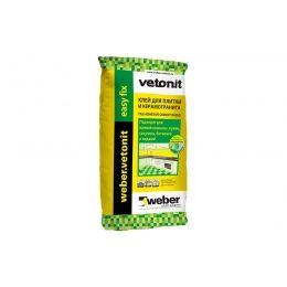 Плиточный цементный клей weber.vetonit easy fix, 25 кг
