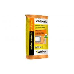 Плиточный цементный клей усиленный weber.vetonit profi plus, серый, 25 кг