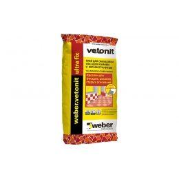 Плиточный цементный клей усиленный weber.vetonit ultra fix, 25 кг