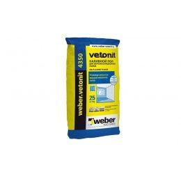 Наливной пол weber.vetonit 4350, серый, 25кг