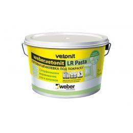 Шпаклевка суперфинишная weber.vetonit LR Pasta, белая, 5 кг/ведро