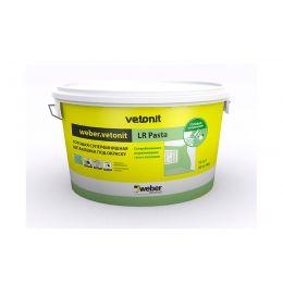 Шпаклевка суперфинишная weber.vetonit LR Pasta, белая, 20 кг/ведро