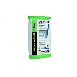 Шпаклевка суперфинишная белая полимерная weber.vetonit LR Fine, 25 кг