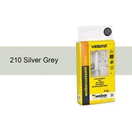 Затирка для швов weber.vetonit Deco 210 Silv grey, 15 кг