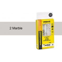 Затирка для швов weber.vetonit Deco 2 Marble, 15 кг