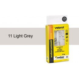 Затирка для швов weber.vetonit Deco 11 Light grey, 15 кг