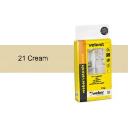 Затирка для швов weber.vetonit Deco 21 Cream, 15 кг
